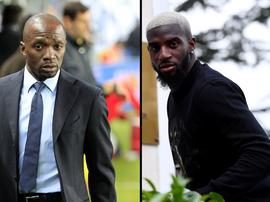 Claude Makélélé et Tiémoué Bakayoko. AFP