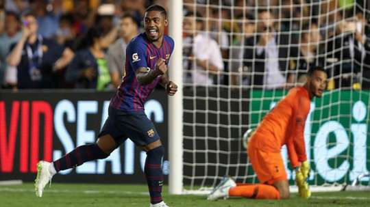 Malcom made a strong debut for Barcelona. Goal