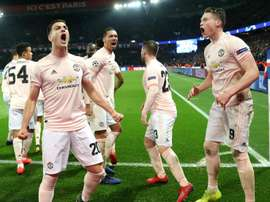United stunned the French champions with a second leg comeback away from home
