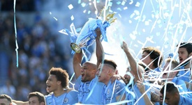 Manchester City lift yet another Premier League title. GOAL