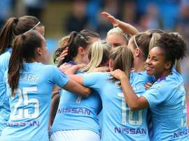 A record Women's Super League crowd of 31,213 were at the Etihad Stadium. GOAL
