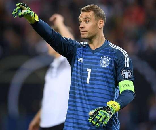 Manuel Neuer envisage de prendre sa retraite internationale après l'Euro 2020. AFP