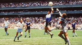Maradona famously scored a handball goal against England. GOAL