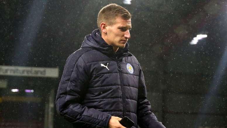 Leicester City's Marc Albrighton. Goal