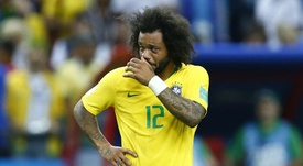 Marcelo Brazil Belgium World Cup. Goal