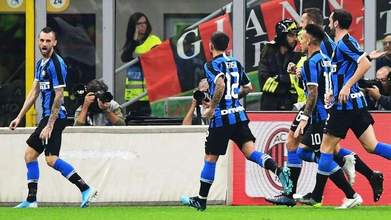 Lukaku et l'Inter survolent le derby. AFP