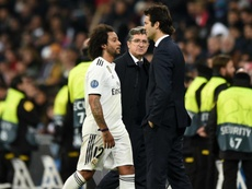 Marcelo pictured after Madrid's 3-0 defeat. GOAL