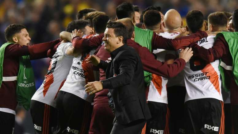 Gallardo overjoyed as River advance. GOAL