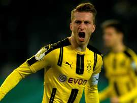 L'attaquant du Borussia Dortmund, Marco Reus, dans un match de Bundesliga. AFP