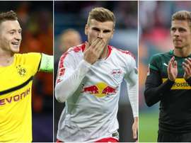 Marco Reus, Timo Werner and Thorgan Hazard have been nominated for player of the month. GOAL