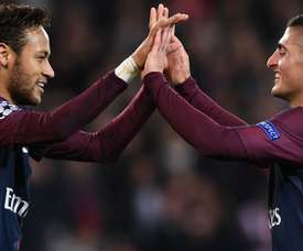 Marco Verratti Neymar PSG Anderlecht Champions League. Goal