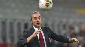 Giampaolo bemoans hesitant Milan after derby defeat.