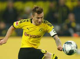 Marco Reus has still not returned to training since picking up a muscle injury. GOAL