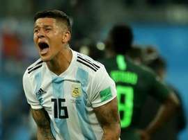 Higuaín celebra gol 'de festa e muito alívio' marcado por Rojo