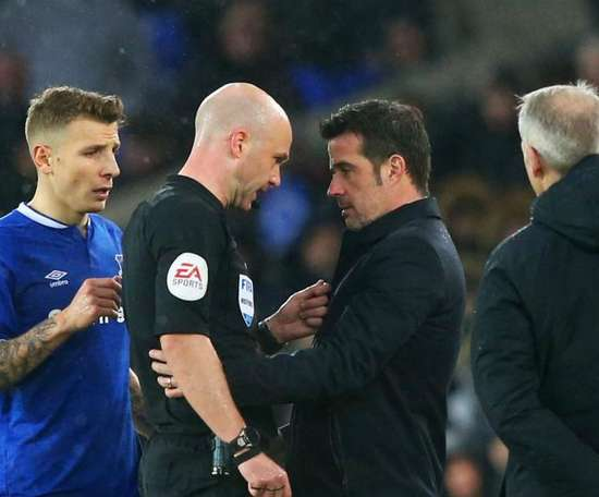 The Everton boss was angry at a variety of decisions made during the match. GOAL