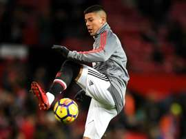 Rojo limped off. GOAL