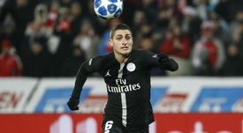 Veratti hobbled off during the game against Guingamp. GOAL