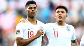 Sancho recebe 'agrado' e coro de Rashford para ir ao Manchester United. Goal