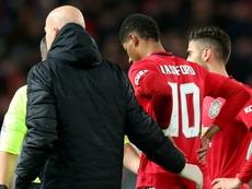 Rashford incertain pour le choc face à Liverpool. Goal