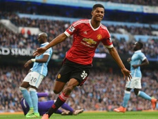 Rashford is relishing the opportunity to take on Manchester City again. GOAL