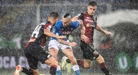 Il Napoli supera il Genoa in rimonta. Goal