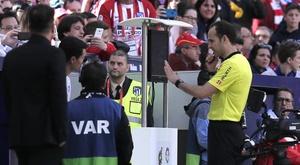 VAR denied Real Valladolid a penalty at the Wanda Metropolitano. GOAL