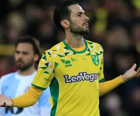 Vrancic scored one of Norwich's goals as his team clinched promotion. GOAL