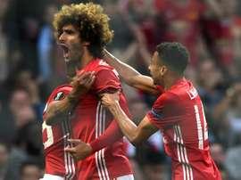 Marouane Fellaini, Manchester United, Europa League. GOAL