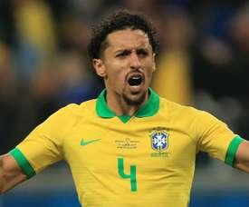 Marquinhos starts for Brazil. GOAL