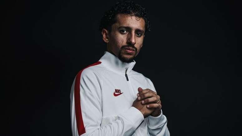 PSG - Marquinhos classé 28e : 'Une grande fierté pour moi'. AFP