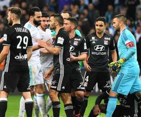 There was a ruckus when Lyon took on Marseille. GOAL