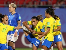 Marta scored her 17th goal in World Cups against Italy. GOAL