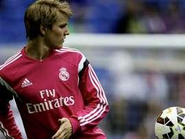 Martin Odegaard Real Madrid Almeria Liga BBVA 04292015