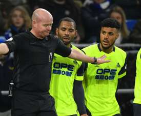 The Huddersfield boss was angry over refereeing decisions. GOAL