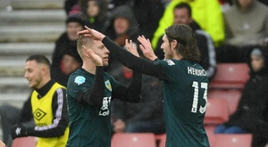 Matej Vydra gave Burnley the three points at St Mary's. GOAL