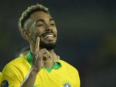 Matheus Cunha escolheu o Hertha e agora colhe os frutos na seleção. AFP