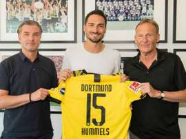 Hummels has rejoined Dortmund from Bayern. GOAL