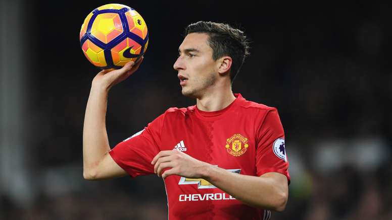 Matteo Darmian in action for Manchester United. Goal