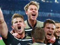 L'Ajax continua a festeggiare la qualificazione. Goal