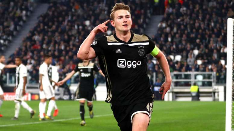 Matthijs de Ligt after scoring against Juventus. GOAL