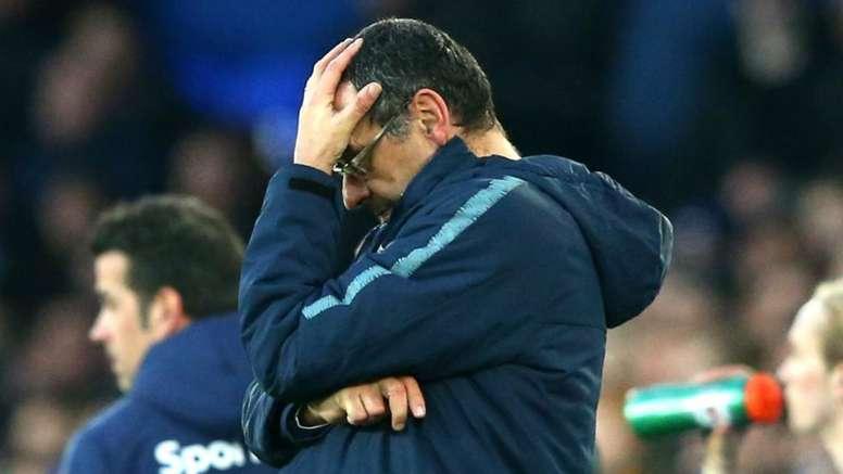 Sarri deluso dopo l'eliminazione del Napoli. Goal