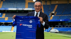 Sarri was asked about previous indiscretions at the Chelsea press conference. Goal