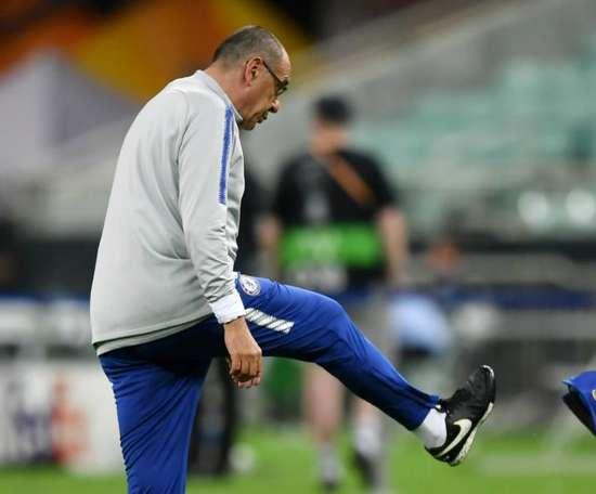 Sarri left the training eixt after an argument between Luiz and Higuain. GOAL