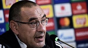 Sarri était en conférence de presse à la veille du match face au Lokomotiv Moscou. Goal