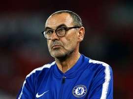 Maurizio Sarri is yet to win against Pep Guardiola. GOAL