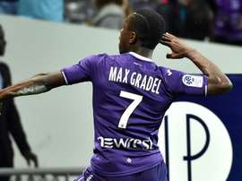 Gradel opened the scoring against Ajaccio. GOAL