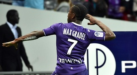 Gradel opened the scoring against Ajaccio. GOAL