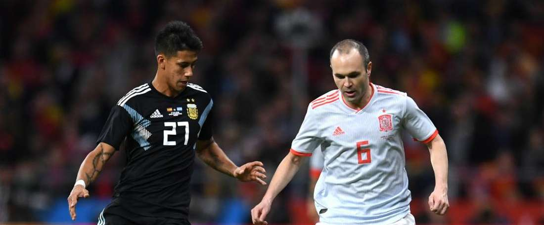 Argentina debutant Meza angry after Spain humiliation. Goal