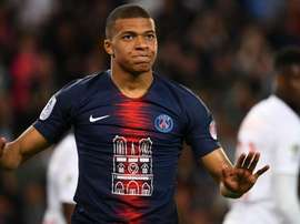PSG's shirt v Monaco featured a tribute to Notre Dame on the front. GOAL