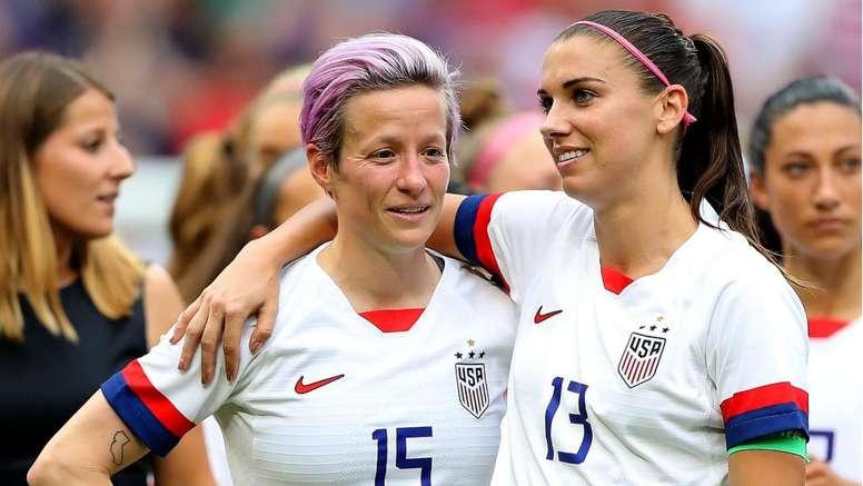 USA pair Rapinoe and Morgan up for FIFA Best honour. GOAL